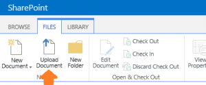 Upload Document Ribbon button